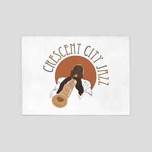 Crescent City Jazz 5'x7'Area Rug