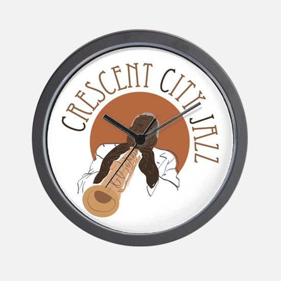 Crescent City Jazz Wall Clock
