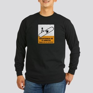 Keep to the Right, subway Rio (BR) Long Sleeve Dar