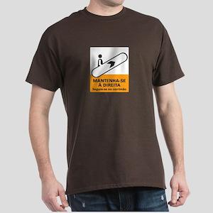 Keep to the Right, subway Rio (BR) Dark T-Shirt