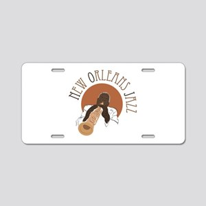 New Orleans Jazz Aluminum License Plate