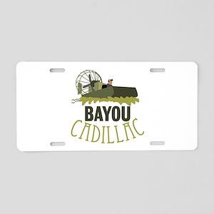 Bayou Cadillac Aluminum License Plate