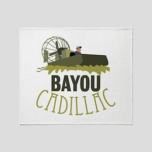 Bayou Cadillac Throw Blanket