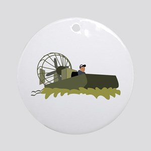 Bayou Airboat Ornament (Round)