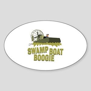 Swamp Boat Boogie Sticker