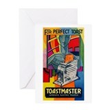 Vintage toaster Greeting Cards