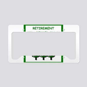 retirement License Plate Holder
