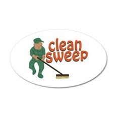 Clean Sweep Wall Decal