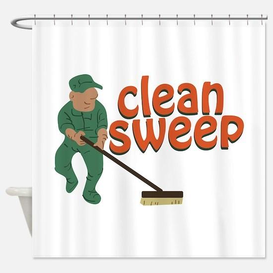 Clean Sweep Shower Curtain