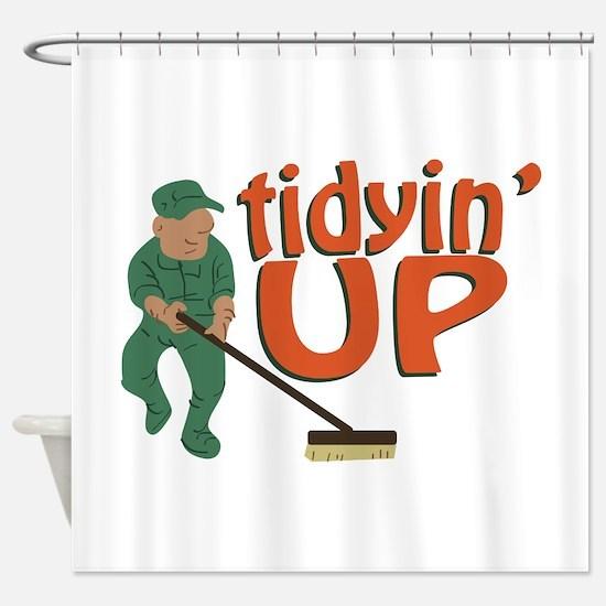 Tidyin Up Shower Curtain