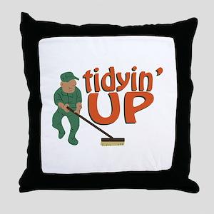 Tidyin Up Throw Pillow