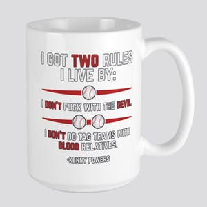 Eastbound and Down Two Rules Large Mug