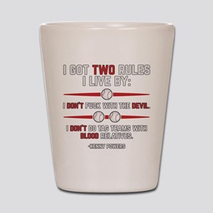 Eastbound and Down Two Rules Shot Glass