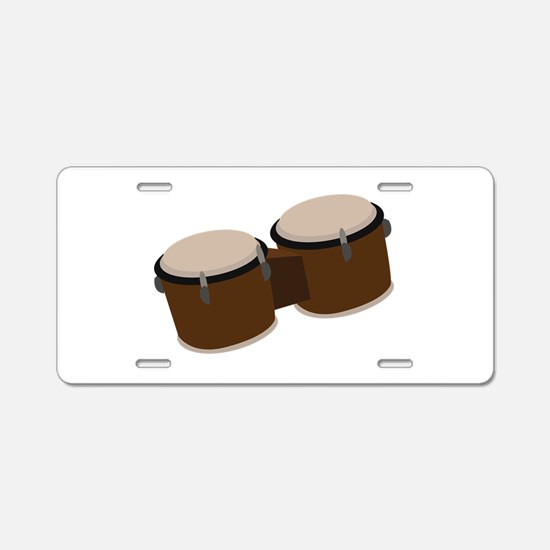 Bongo Drums Aluminum License Plate