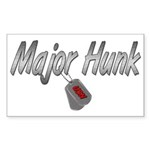Navy Major Hunk ver2 Rectangle Sticker