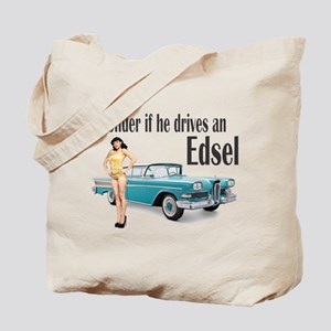 I wonder if he drives an Edsel? Tote Bag