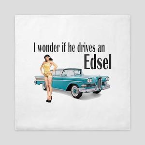 I wonder if he drives an Edsel? Queen Duvet