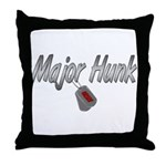 Navy Major Hunk ver2  Throw Pillow