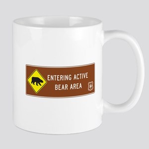 Entering Active Bear Area, North Caroli Mug