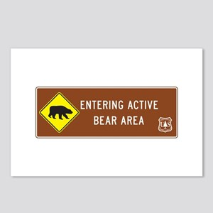 Entering Active Bear Area Postcards (Package of 8)