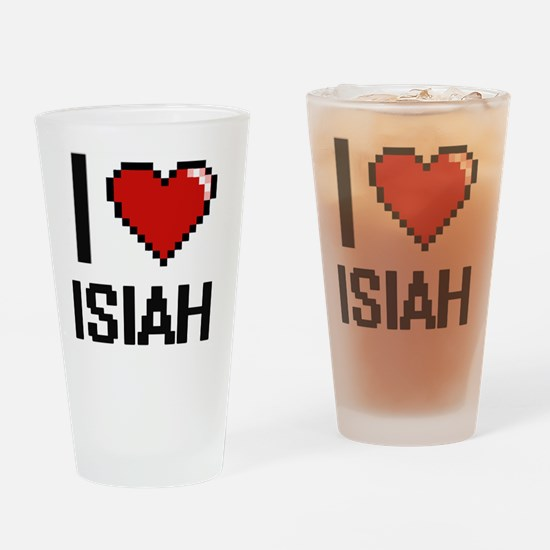 Cute Isiah Drinking Glass
