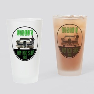 Edsel's Hot Rod Shop Drinking Glass