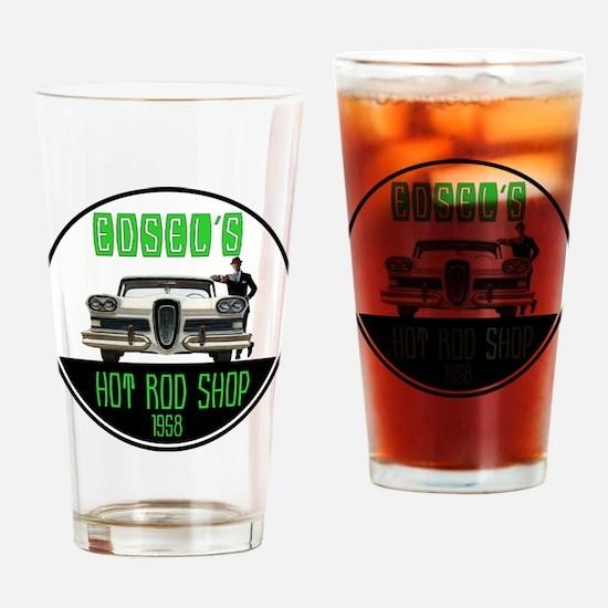 Edsel's Hot Rod Shop Drinking Glass