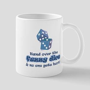 Hand fuzzy dice Mug