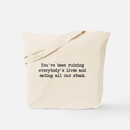 Ruining Lives 2 (blk) - Napoleon Tote Bag