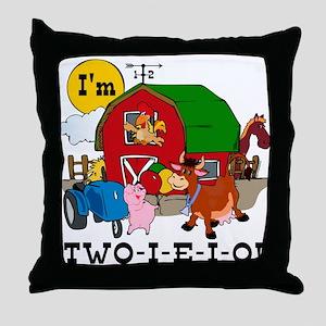 TWO-I-E-I-O Throw Pillow