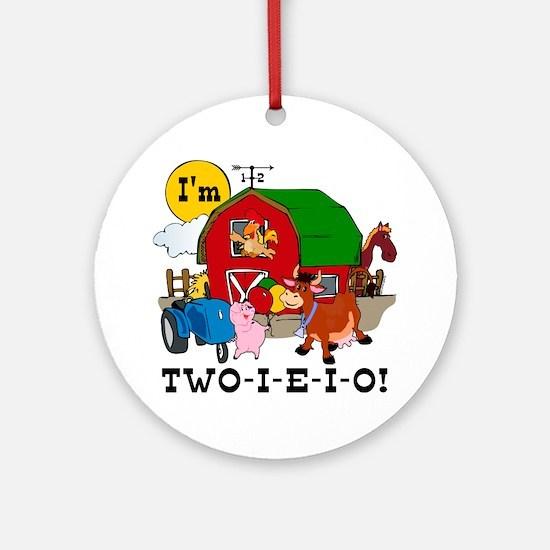 TWO-I-E-I-O Ornament (Round)