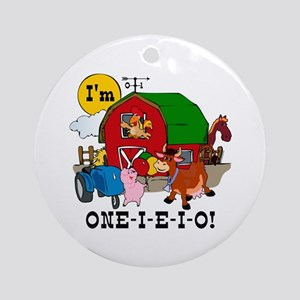 ONE-I-E-I-O Ornament (Round)