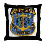 USS HARTLEY Throw Pillow