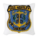 USS HARTLEY Woven Throw Pillow