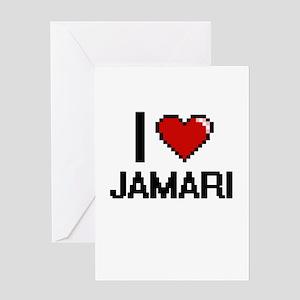 I Love Jamari Greeting Cards