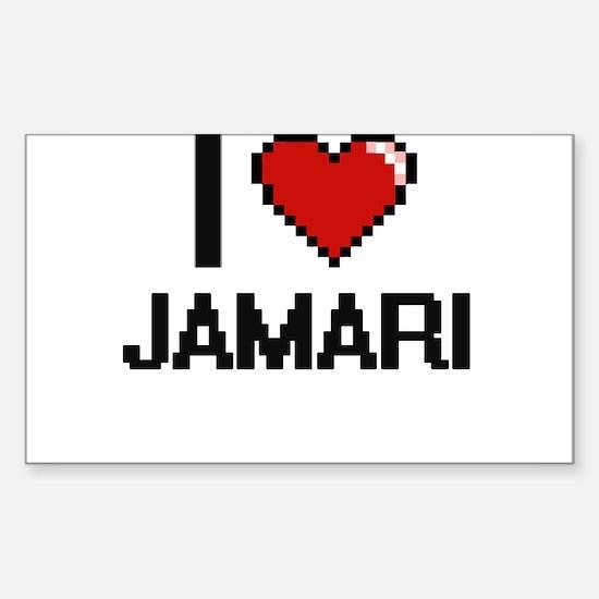 I Love Jamari Decal