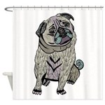 Ares The Pug Shower Curtain