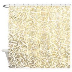 Inca Golden Sun Shower Curtain