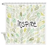 Inspire Green Shower Curtain