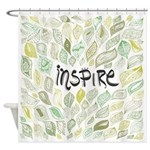 Inspire Green Shower Curtain