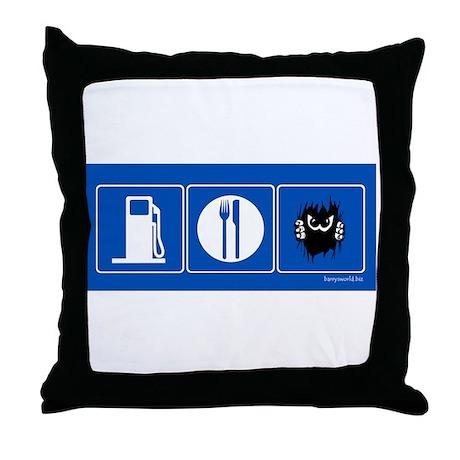 Gas Food Eek! Throw Pillow