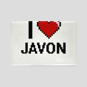 I Love Javon Magnets