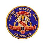USS HARWOOD Button