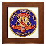 USS HARWOOD Framed Tile