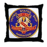 USS HARWOOD Throw Pillow