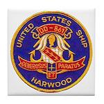 USS HARWOOD Tile Coaster