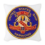 USS HARWOOD Woven Throw Pillow