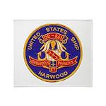 USS HARWOOD Throw Blanket