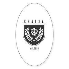 KHALSA - Oval Sticker