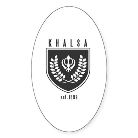 KHALSA - Oval Sticker